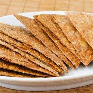 Gluten-Free and South Beach Diet Friendly Baked Brown Rice Tortilla Chips.