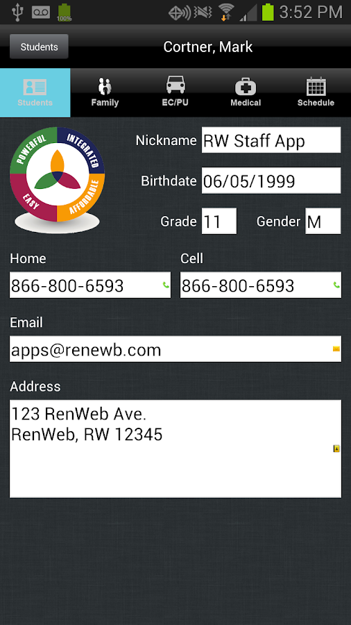 RenWeb Staff- screenshot