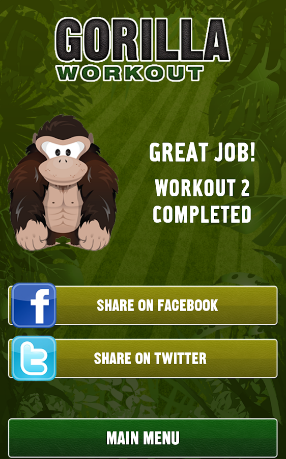 Gorilla Workout: Strength Plan- screenshot