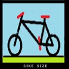 Bike size icon