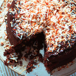 German Double-Chocolate Cake.