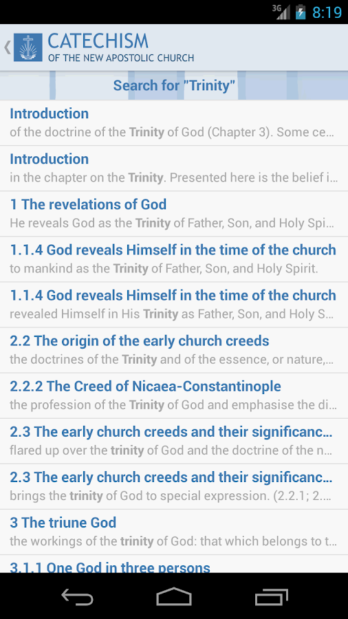 Catechism- screenshot