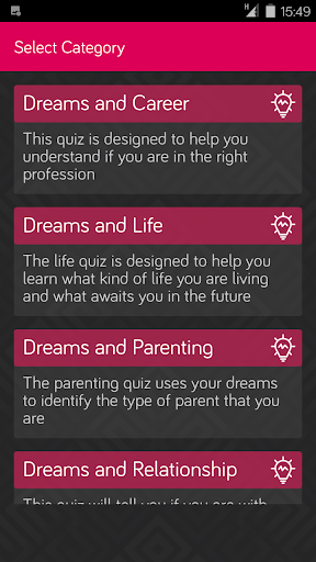 Dream Analysis Quiz