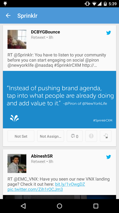 Sprinklr: captura de tela