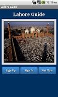 Screenshot of Lahore Guide