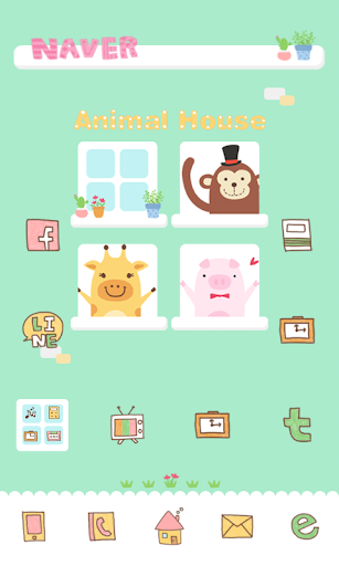 Animal dodol launcher theme