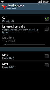 Prof Reminder - missed call - screenshot thumbnail