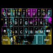 Neon Splatter Keyboard Skin