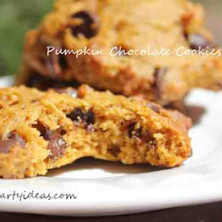 Chocolate Chips Pumpkin Cookies