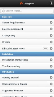 CodeIgniter Mobile User Guide- screenshot thumbnail