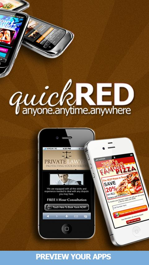 QuickRed Mobile Apps Previewer - screenshot