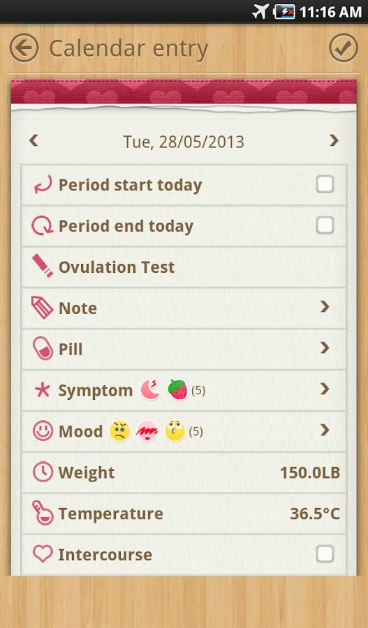 Calendário do Período - screenshot