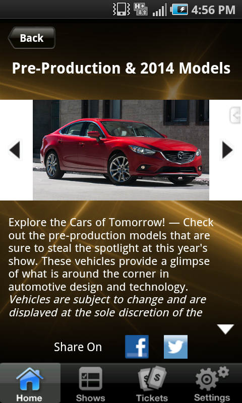Motor Trend Auto Shows - screenshot