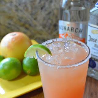 Pink Grapefruit Lime Margaritas With Agave.