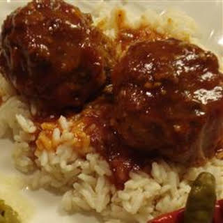 Sweet and Sour Meatballs in Sauce.