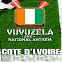 COTE D'LVOIRE VUVUZELA! logo
