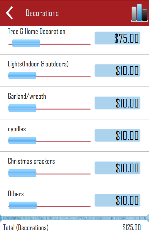 Christmas Budget Planning - screenshot