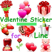 Valentine Sticker for Line