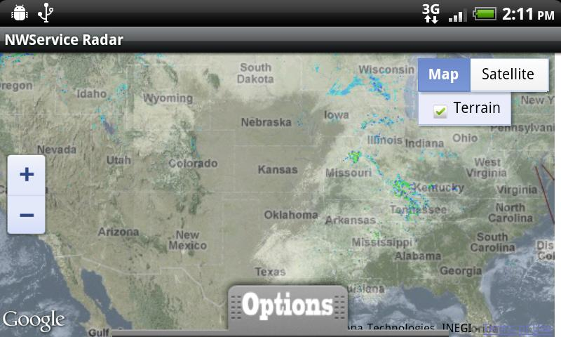 NWService Radar and Weather- screenshot