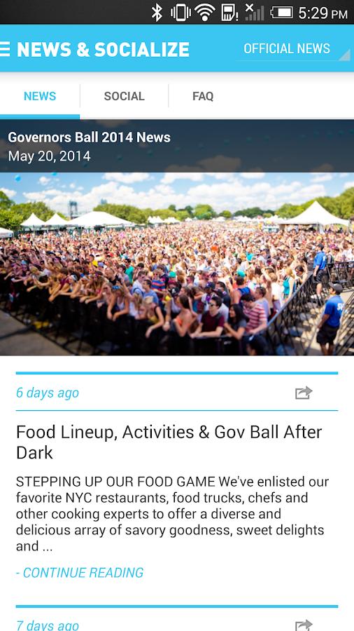 Governors Ball Music Festival - screenshot