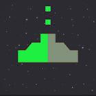 Space 8 bit - 8 stars ship gun icon