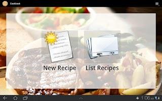 Screenshot of Cookbook