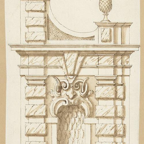 Ontwerp voor een zijde van een poort met een nis agostino mitelli 1600 1699 rijksmuseum - Zoom ontwerp ...