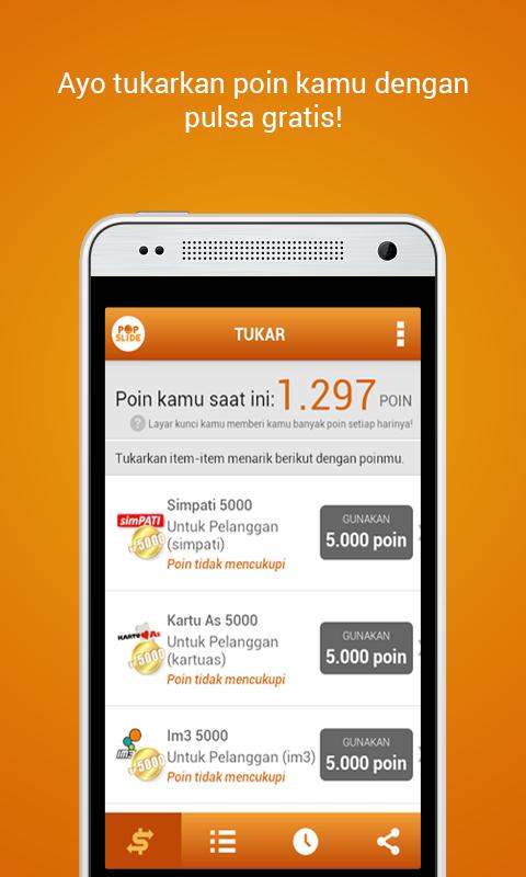 PopSlide: Tukar Pulsa Gratis - Android Apps on Google Play