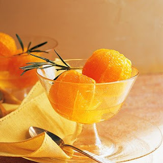 Oranges with Dessert Wine and Rosemary