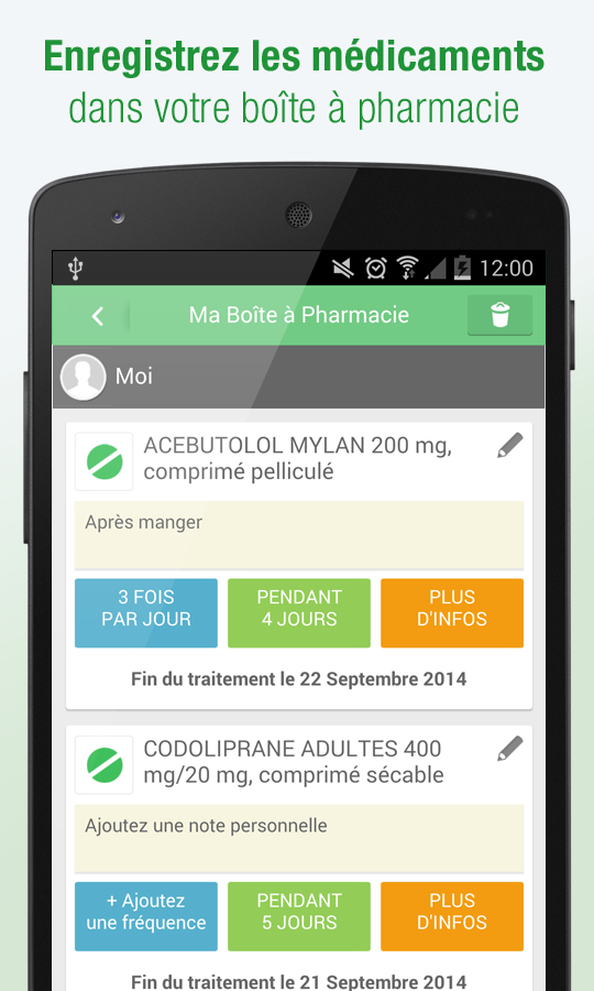 Médicaments AZ - screenshot