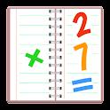 Math Notebook - Handwriting icon