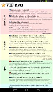 VIP nytt - Alle norske nyheter- screenshot thumbnail