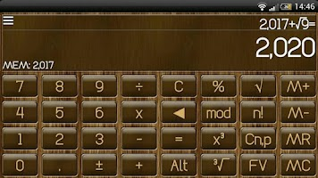 Screenshot of SCalc Wood Theme