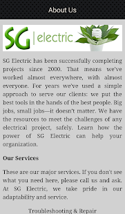 SG Electric Company- screenshot thumbnail