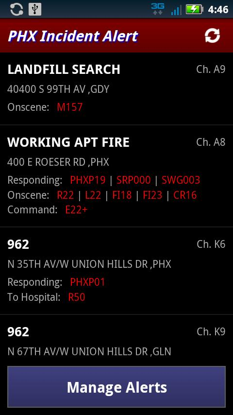 Incident Alert: PHX- screenshot