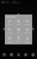 Screenshot of Black Skull Atom Theme