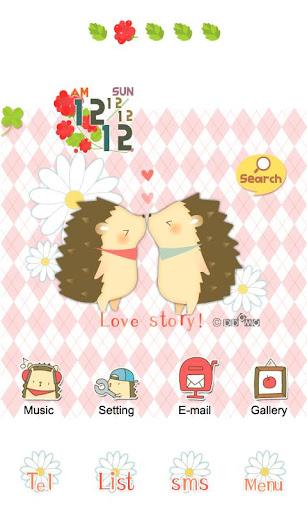 CUKI Theme Kiss of hedgehogs