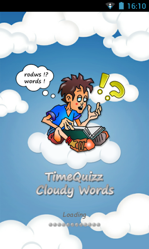 Time Quizz Cloudy Words