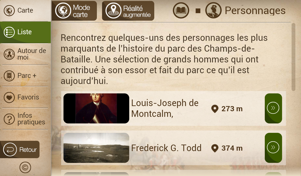 Mes Plaines mobiles - screenshot