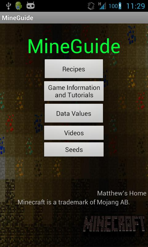 MineGuide - Minecraft guide - screenshot