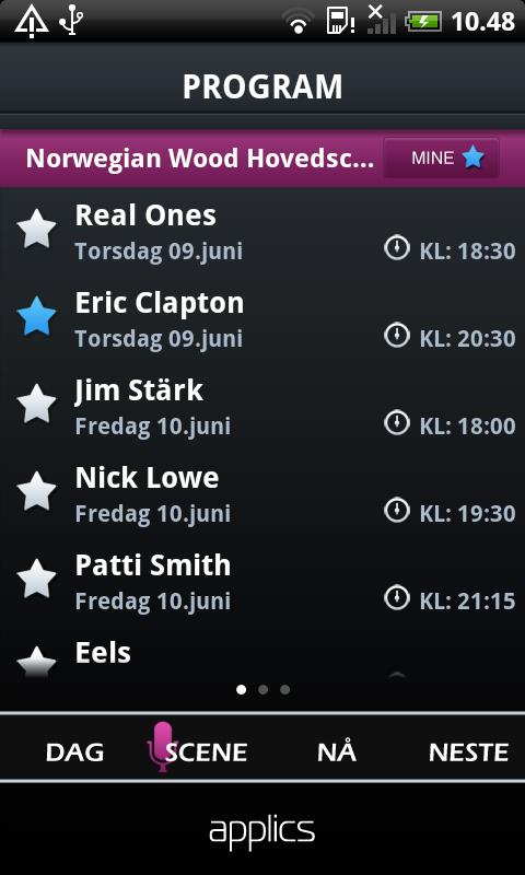 Festivalapp - screenshot