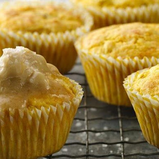 Cornbread Cupcakes with Maple Butter Topping
