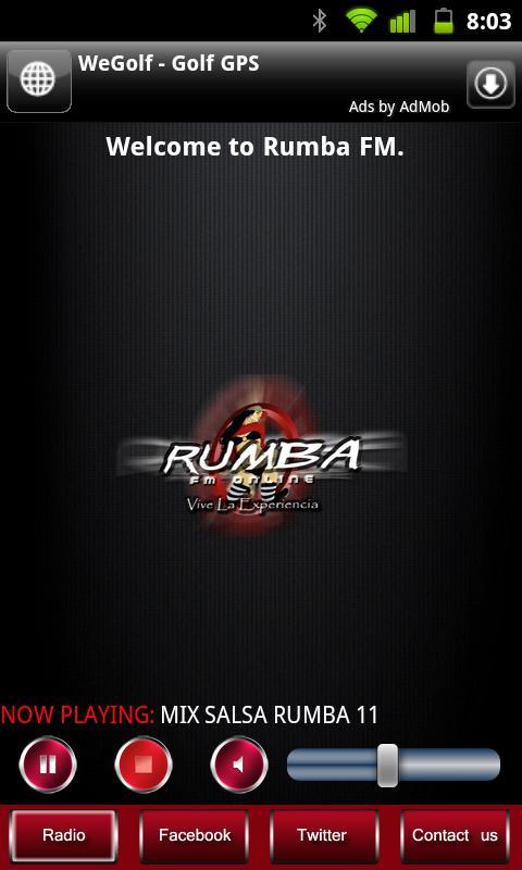Rumba FM- screenshot