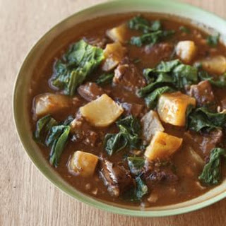Beef Stew with Turnips and Greens Recipe