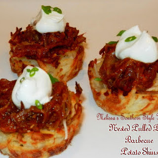 Nested Pulled Pork Barbecue Potato Skins