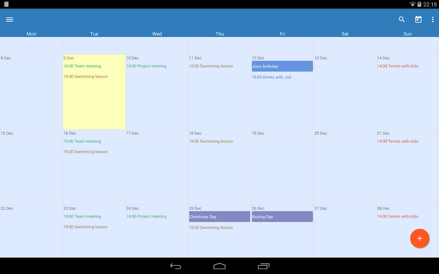 Touch Calendar- screenshot