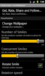 Smile Audio LiveWallpaper LITE - screenshot thumbnail