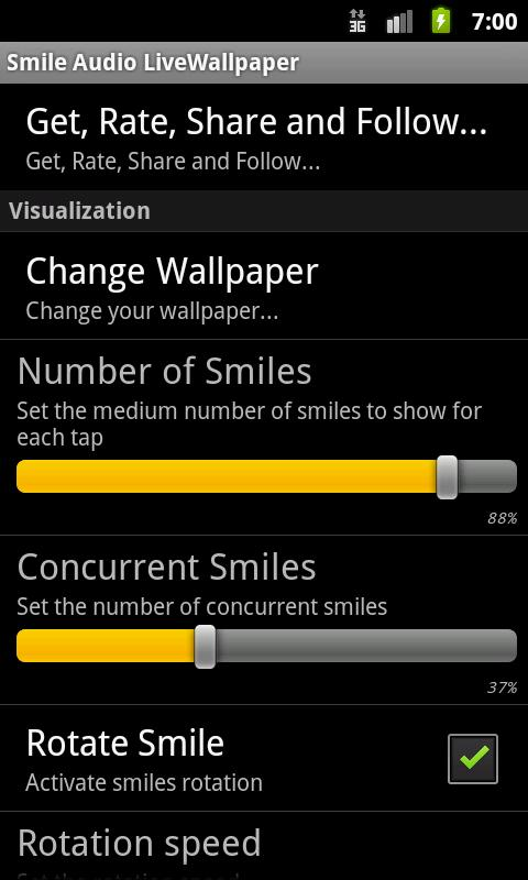 Smile Audio LiveWallpaper LITE - screenshot