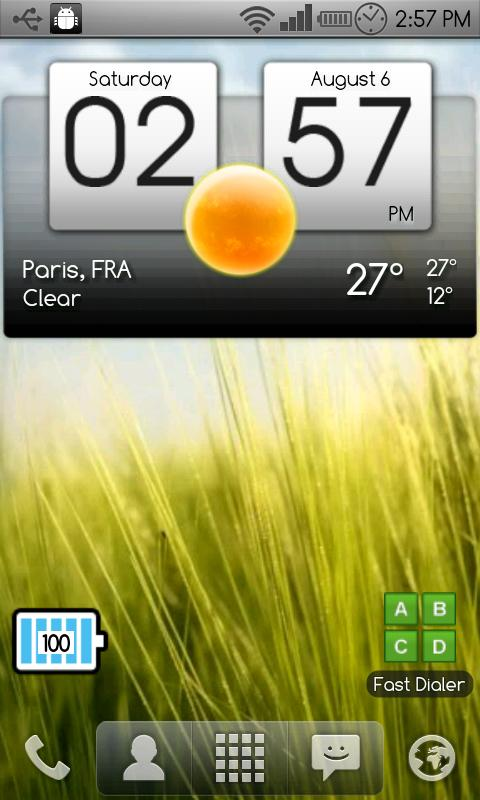 Digital clock & world weather - screenshot