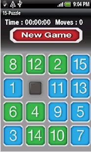 15 puzzle- screenshot thumbnail